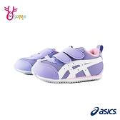 ASICS童鞋 寶寶鞋 女學步鞋 機能鞋 MEXICO NARROW 童鞋跑步鞋 足弓鞋墊 亞瑟士 B9166#紫色◆OSOME奧森鞋業