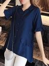 甜美雪紡衫女短袖2021春夏季新款洋氣襯衫大碼寬鬆顯瘦遮肚子上衣 依凡卡時尚