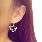 清新甜美925純銀鑲鑽鋯石耳環 (0433)