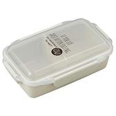 asdfkitty*日本製 OSK 樂扣型透明蓋便當盒-可微波-可機洗-白色-500ML-保鮮盒/水果盒/收納盒