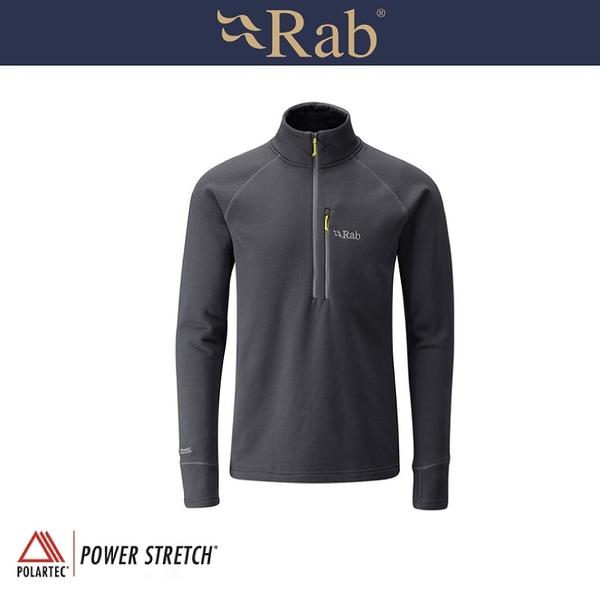 【RAB 英國 男 P/S Pro Pull-On 《鯨魚灰》】QFE62/運動上衣/透氣/吸濕排汗