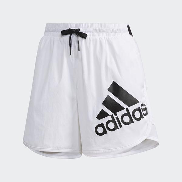 ADIDAS Ess Logo Short 女裝 短褲 慢跑 訓練 健身 休閒 透氣 舒適 基本款 黑LOGO 白【運動世界】DY8640