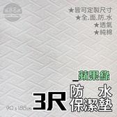 【嘉新名床】蘋果綠防水保潔墊《標準單人3尺》