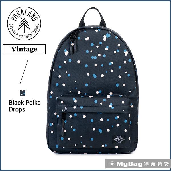 Parkland 後背包 黑色點點 電腦後背包 簡約休閒背包 Vintage-065 MyBag得意時袋