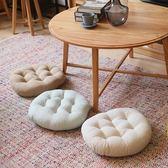 棉麻坐墊餐椅墊榻榻米圓形加厚屁股座墊 LQ2938『小美日記』