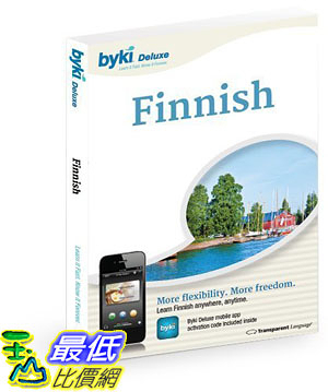 [106美國直購] 2017美國暢銷軟體 Byki Finnish Language Tutor Software Audio Learning CD-ROM for Windows Mac