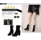 高跟短靴 黑色馬丁靴女春秋單靴2020年新款韓版百搭高跟切爾西女靴粗跟短靴- 漫步雲端