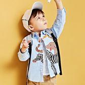 年終盛典 兒童襯衫2018新款嬰兒春秋裝上衣寶寶1-2-3歲潮男童襯衣長袖純棉