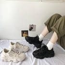 老爹鞋 春夏季網紅百搭全黑老爹鞋女超火ins潮鞋2021新款街拍運動休閒鞋 【618 大促】