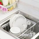 碗櫃水槽可伸縮碗碟架放碗架瀝水架 家用廚裝碗筷房置物架 JY177【Sweet家居】