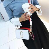 韓版仙女小包包寬肩帶女包潮側背斜挎簡約百搭小方包 黛尼時尚精品