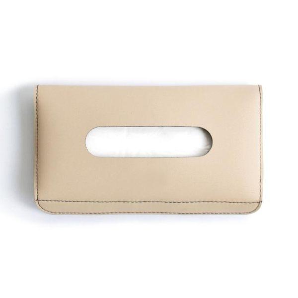 車用紙巾盒椅背掛式車載餐巾紙盒皮革創意遮陽板抽紙盒套車內用品 年尾牙提前購