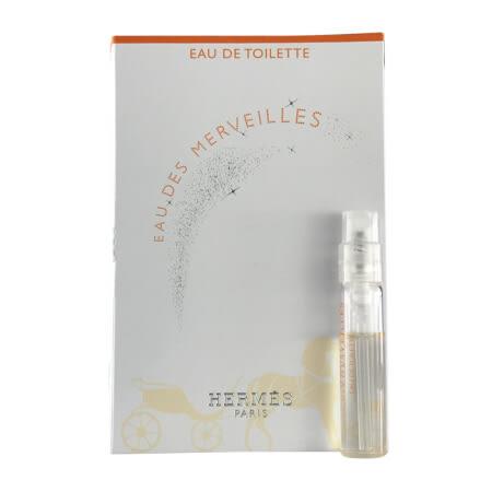 HERMES愛馬仕 Eau des Merveilles 橘采星光女性淡香水 針管 2ML