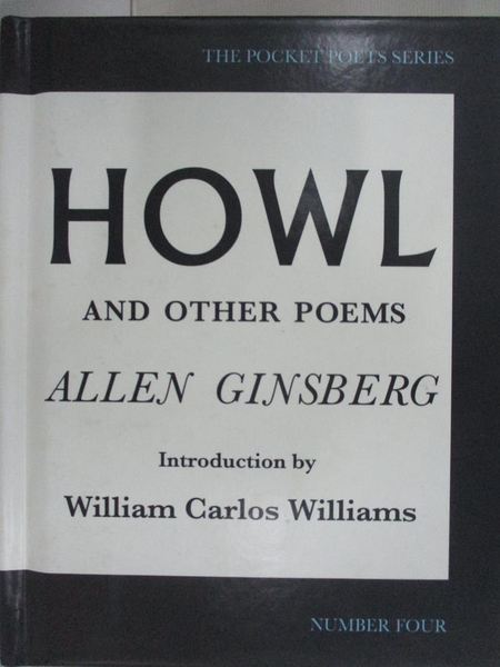 【書寶二手書T5/原文小說_AFU】Howl, and Other Poems_Ginsberg, Allen