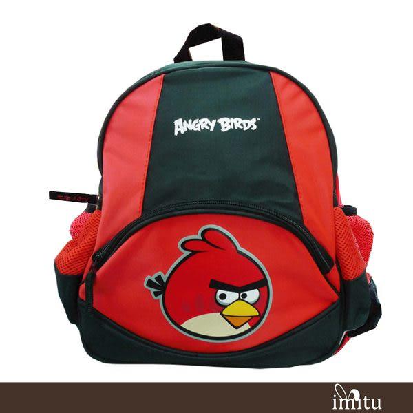imitu【憤怒鳥 Angry Birds】兒童書背包(黑紅_AB4954)