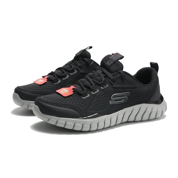 SKECHERS 慢跑鞋 OVERHAUL 2.0 黑灰 網布 寬楦 透氣 男 (布魯克林) 232013WBKGY