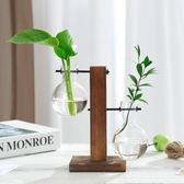 水培植物花瓶水養綠蘿九里香水培玻璃花盆簡約創意透明桌面小容器 9號潮人館
