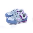 New Balance 574 運動鞋 跑鞋 魔鬼氈 粉藍/紫 小童 童鞋 IV574SL2-W no931