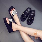 人字拖鞋女外穿時尚夏季家用夾腳拖鞋【橘社小鎮】