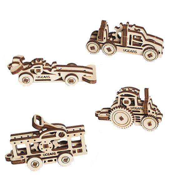 Ugears 手癢系列 Fidget - 手癢車車組 來自烏克蘭.橡皮筋動力.機械驚奇 ! 科學玩具 強強滾
