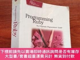 二手書博民逛書店Programming罕見Ruby:The Pragmatic Programmers 英文版Y23625