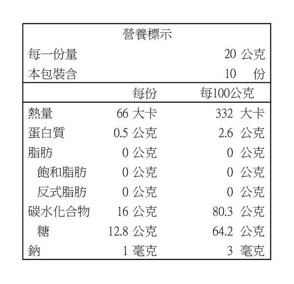 玉井愛文芒果乾-不加糖(200g/包)