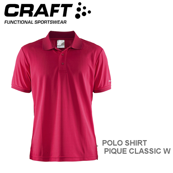 【速捷戶外】瑞典CRAFT 192466 男短袖排汗POLO衫(亮紅) POLO SHIRT PIQUE CLASSIC M