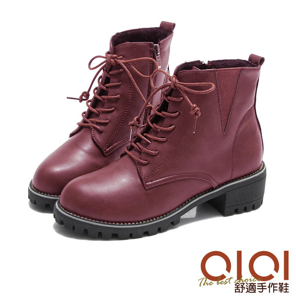 短靴 時尚百搭必敗款馬汀靴(紅) *0101shoes【18-1703r】【現貨】