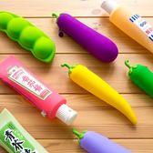 筆袋 可愛筆袋創意硅膠小學生用文具袋韓國男女生簡約小清新大學生筆盒 芭蕾朵朵
