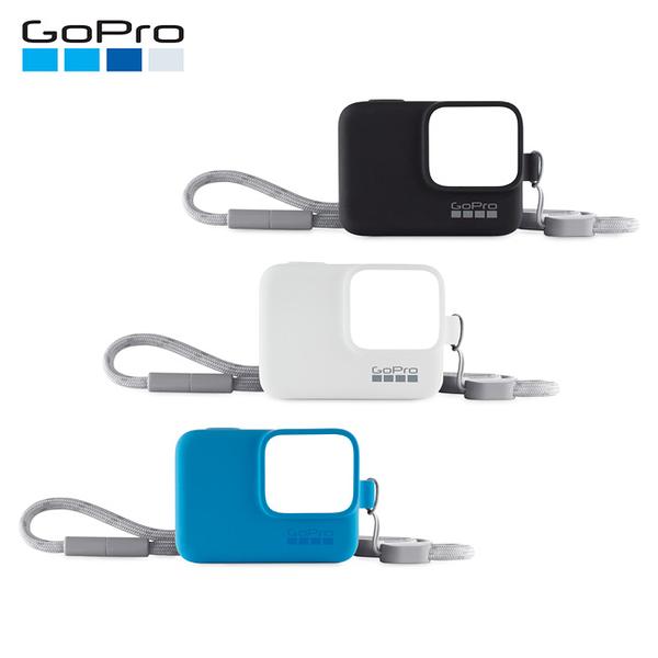 黑熊館  GoPro 矽膠護套 藍色 白色 黑色 HERO5 HERO6 HERO7 附繩保護套