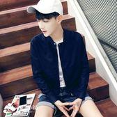 男士外套 薄款夾克男青年加肥加大碼運動衣服外套韓版棒球服男裝