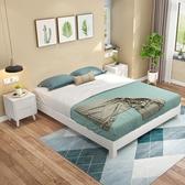實木床 北歐全實木日式矮床架1.8米現代簡約無床頭榻榻米床架1.5m雙人床