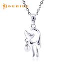 925純銀項鍊 天然珍珠「小Q貓」銀飾珠寶/情人禮物