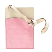 HERMES 愛馬仕 5p Pink粉色鱷魚皮x米白色牛皮斜背包 Petit H  【BRAND OFF】