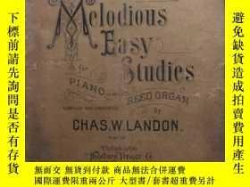 二手書博民逛書店melodious罕見easy studies(英文原版歌譜曲譜
