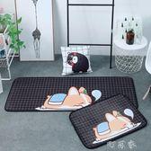 北歐家用親膚地墊卡通臥室客廳床邊長條地毯衛生間吸水門墊可機洗 盯目家