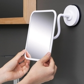 deHub化妝鏡子壁掛衛生間掛牆式浴室鏡免打孔廁所梳妝小鏡子貼牆 陽光好物
