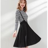 亮麗青春假兩件單寧吊帶洋裝[63005-KF]小三衣藏