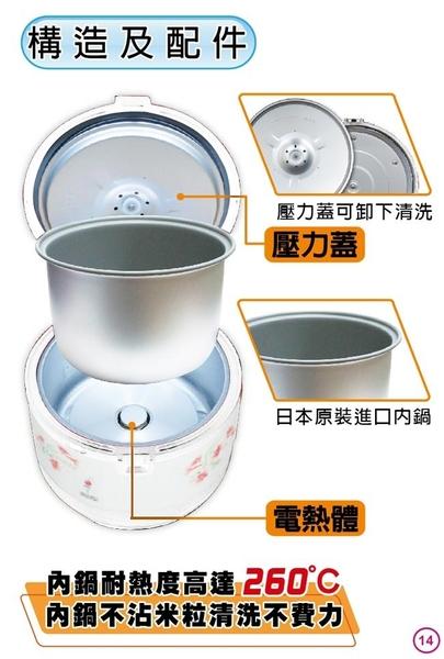 豬頭電器(^OO^) - 【ZUSHIANG 日象】6人份機械式立體保溫電子鍋(ZOR-8061)