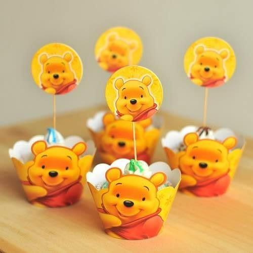 【發現。好貨】烘焙包裝紙杯蛋糕 蛋糕裝飾 插牌圍邊+插牌裝飾 派對用品 【維尼】