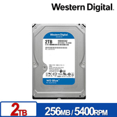 WD 藍標 2TB 3.5吋 SATA 內接硬碟 WD20EZAZ