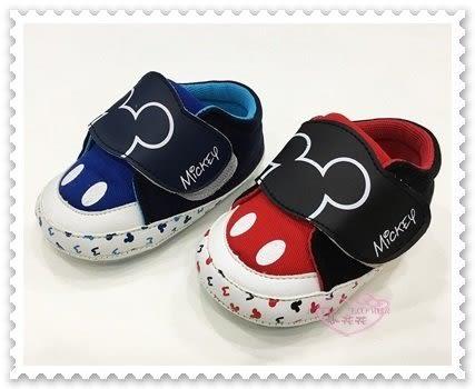♥小花花日本精品♥《Disney》迪士尼 米奇 童鞋 魔鬼氈 台灣製 兩色 紅色賣場 (預購)