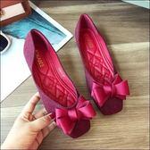 六月芬蘭方頭千鳥紋立體緞帶質感平底鞋娃娃鞋女鞋紅色(35-41大尺碼)現貨