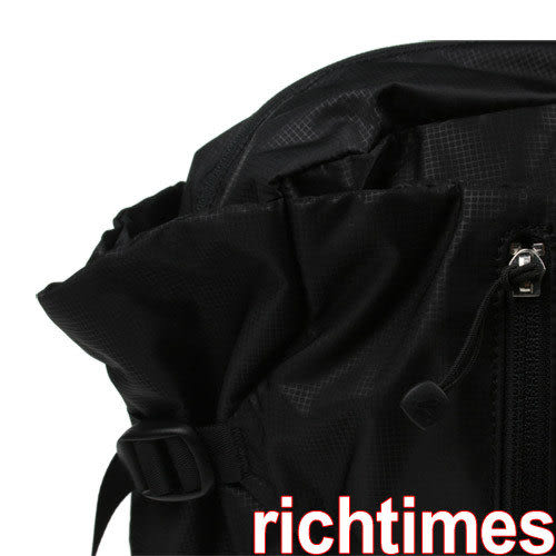 agnes b. 方塊紋中束大肩背包(黑)AB098243