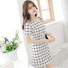 女裝性感時尚氣質修身顯瘦針織洋裝韓版 韓語空間