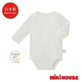 MIKI HOUSE BABY 日本製 紗布長袖包屁衣(白)