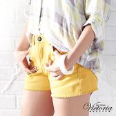 特惠↘790►Victoria 天絲棉高腰短褲-女-黃