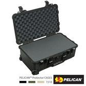 美國 PELICAN 1510 輪座拉桿氣密箱-含泡棉(黑)(公司貨)
