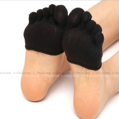 5天出貨★五指襪淺口隱形半掌襪套短船襪高跟鞋腳趾襪子露指★ifairies【29963】