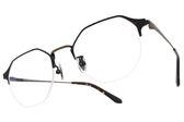 NINE ACCORD 光學眼鏡 TI OWEN C02 (霧琥珀-復古銅) 紳士眉框造型半框款 平光鏡框 # 金橘眼鏡